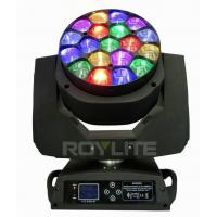 Buy cheap 19 X 15w Osram Bee Eye Moving Head Led Lights 4° - 60° Lens Rotate from wholesalers