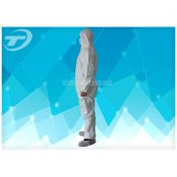 Quality Durable Non Woven Fabric Disposable Coverall Suit White Chemical Resistant Coveralls for sale
