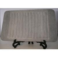 Quality 32x25cm Stone Grill Plates , Rectangular Stone Cooking Plate With Groove for sale