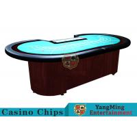 Quality Baccarat Standard Casino Poker Table / 80 Inch Large Poker TableFor 9 Players for sale