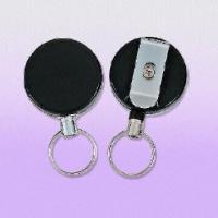 Quality Heavy-duty Clip-on Badge Reels with 60cm Long Pull Metal Wire, Customized Logos are Welcome for sale