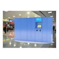 China Indoor Airport Pin Code Luggage Lockers With Cell Phone Charging Function on sale