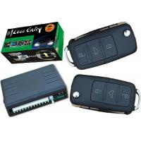 Quality Flip Key Remote Car Alarm Keyless Entry System Trunk Open Feature And Siren Output for sale