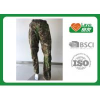 Quality Windbreak Hunting Camo Pants Thermal  100% Polyester For Running / Fishing for sale