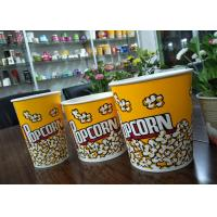 Quality Food Grade 64oz 85oz 130oz Paper Popcorn Buckets Generic Yellow for sale