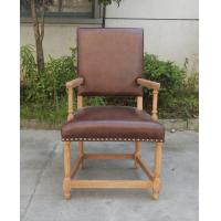 Buy cheap American Style Regional Style and No Inflatable Italian Leather Chairs /Canteen Oak Wood Chair from Wholesalers