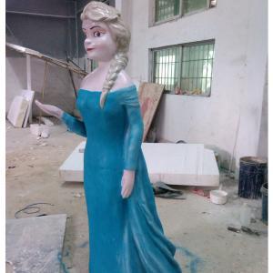 frozen character princess cartoon  statue life size fiberglass  as decoration in park