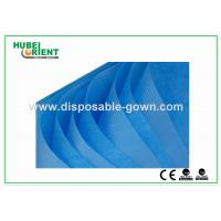 Quality Single Use Non Woven Disposable Bed Sheets with Round Elastic Rubber , White / Blue Color for sale