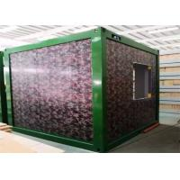 Camouflage Color Flat Pack Container Homes With Galvanized Steel Frame Structure