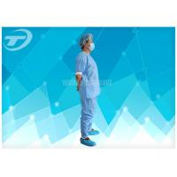 Quality Disposable Coveralls Waterproof Disposable Gown With Knitted Cuff for sale