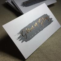 China Rose Gold Custom Foil Stamped Business Cards for sale