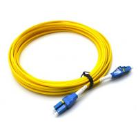 Quality 10M LC UPC To LC UPC Single Mode Patch Cord Flat Clip Uniboot Duplex OS2 500 Cycles for sale