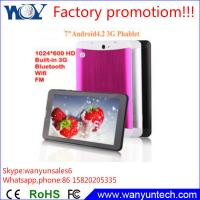 """Quality 7"""" Android Dual camera Tablet android Tablet pc Wifi 7 inch Tablet 3G phone call function for sale"""