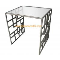 Quality High Standard Metal Frame Gold Finish Tempered Glass Top Coffee Table for sale