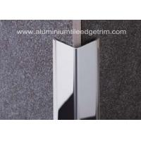 Quality Polished Stainless Steel Tile Trim / Angle Trim , Stainless Tile Edge Trim 20mm X 20mm X 2.44m for sale