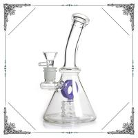 Glass Water Bubbler Holes Perc Heady Mini Smoking Water Pipes American Fluorescence Green and Purple