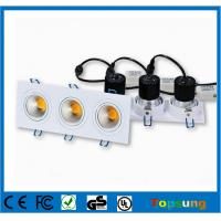 Quality 3X6W Recessed ceiling led downlight 90lm/w 2 years warrranty for sale