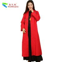 Quality 100% Cotton Long Chinese Coat , Soft Women Custom Embroidered Winter Jackets for sale