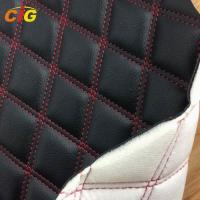 Buy cheap Embroidered PVC Leather bonded with Sponge and Nonwoven for Car Seat/ Furniture/ from wholesalers