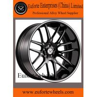 Quality 2pcs 8.0 - 12.5 Width Concave Forged Wheels / Black 19 Inch Rims for sale