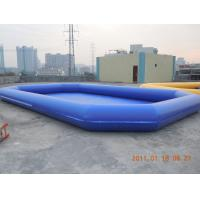 Quality Amusement PVC tarpaulin Inflatable water pool 0.6mm - 0.9mm for Summer Aqua Theme Park for sale