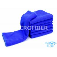 Quality Eco Friendly Thick Green Car Cleaning Cloth Plain 24 x 48 , Car Buffing Cloth for sale