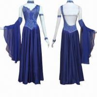Quality Ballroom Dance Dress, Made of Lycra with Preciosa Stones Decoration, Customized Sizes are Accepted for sale