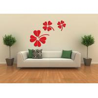 Quality JY-02 3D Flower Design Removable Wall Stickers Acrylic ,Self-adhesive Wall Mirror  Sticker for sale