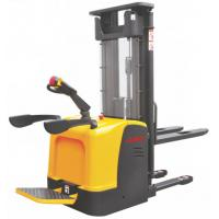 Quality Warehouse 1.2 ton Ride Electric Stacker Truck Narrow Aisle Forklift Stepless Speed Control Alternating Current 1200Kg for sale