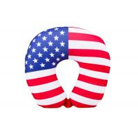 Buy cheap Personalized US Flag Airplane Neck Pillow , U Shaped Neck Pillow For Travel from Wholesalers