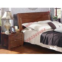 New American Style Solid Wood Bed with Wardrobe for Luxury Home Decoration