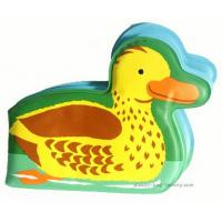 Quality Small Yellow Duck Waterproof Plastic Baby Bath Book EVA Early Learning Bath Books for Babies for sale