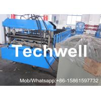 Quality Steel Standing Seam Roofing Sheet Roll Forming Machine With High Speed 0-15m/Min for sale