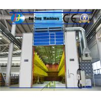 Quality H Beam Air Sandblasting Process Room , Mobile Sandblasting Booth Dust Collector System for sale