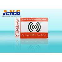 Quality PVC Outside Rfid Blocking Card Holder Resistant / Puncture And Tear Resistant for sale