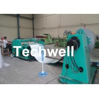 Quality Simple Steel / Metal Slitting Machine For 0.2-1.8x1300 Coil Into 10 Strips for sale