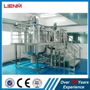 Quality 2000L Industrial Liquid Detergent Homongenizer Mixer Plant High Precision Cosmetic Product Line Liquid Soap Making Machi for sale