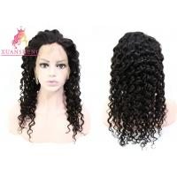 Quality Density 130% Transparents Full Lace Deep Wave Wigs for sale