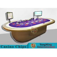Quality Custom RFID Casino Chips , Grade 10 Person Electronic Poker Table With Intelligent System for sale