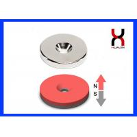 Quality Round / Square Countersunk Neodymium Magnets With Single / Double Hole for sale