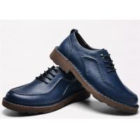 Latest Hand Sewing Blue Comfortable Casual Shoes Moc Toe Four Seasons Available