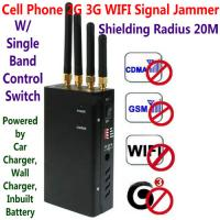 4 Antenna Portable Cell Phone GSM 3G WIFI Signal Jammer Blocker W/ Single Band Switch