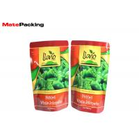 Aluminum Foil Stand Up Fresh Vegetable Plastic Packaging Bags For Green Pepper