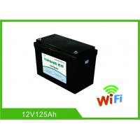Quality Auto Start Deep Cycle Lithium Battery 12V 125Ah LiFePO4 Material With WIFI Function for sale