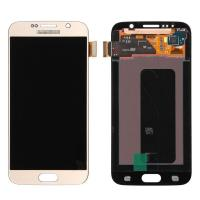 Quality For OEM Samsung Galaxy S6 SM-G920/G920A/G920P/G920R4/G920T/G920F LCD Screen and Digitizer Assembly - Gold - Grade A+ for sale