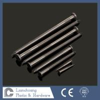 Buy cheap 4.0X90MM SUS304 Flat Head Ring Shank Nails for wood with CE approved from Wholesalers