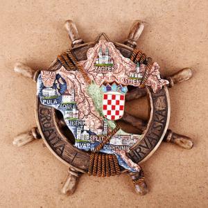 China Resin coratia fridge magnet Cute Nautical Anchor souvenir Coratia Souvenir Gift Home Decoration on sale