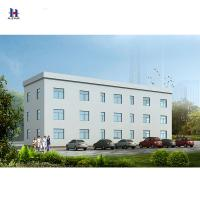 China Prefabricated Steel Structure Office Building with Cement Fiber Board on sale