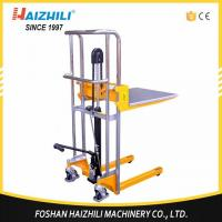Multi function light weight 400kg 800lb 1500mm hydraulic manual stacker with price