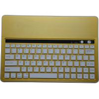 China Yellow Aluminum Bluetooth Keyboard With Stand for different size tablet, Bluetooth Keyboard with Island-Style keys on sale